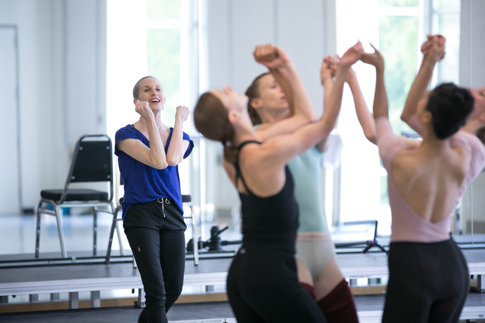 Wendy Whelan in rehearsal with Pacific Northwest Ballet, for the PNB premiere of Alexei Ratmansky's Pictures at an Exhibition.© Lindsay Thomas. (Click image for larger version)