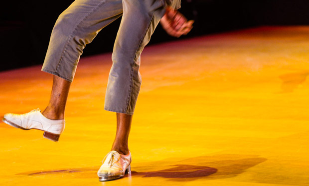 Dorrance Dance in <I>ETM: Double Down</I>.<br />© Foteini Christofilopoulou. (Click image for larger version)