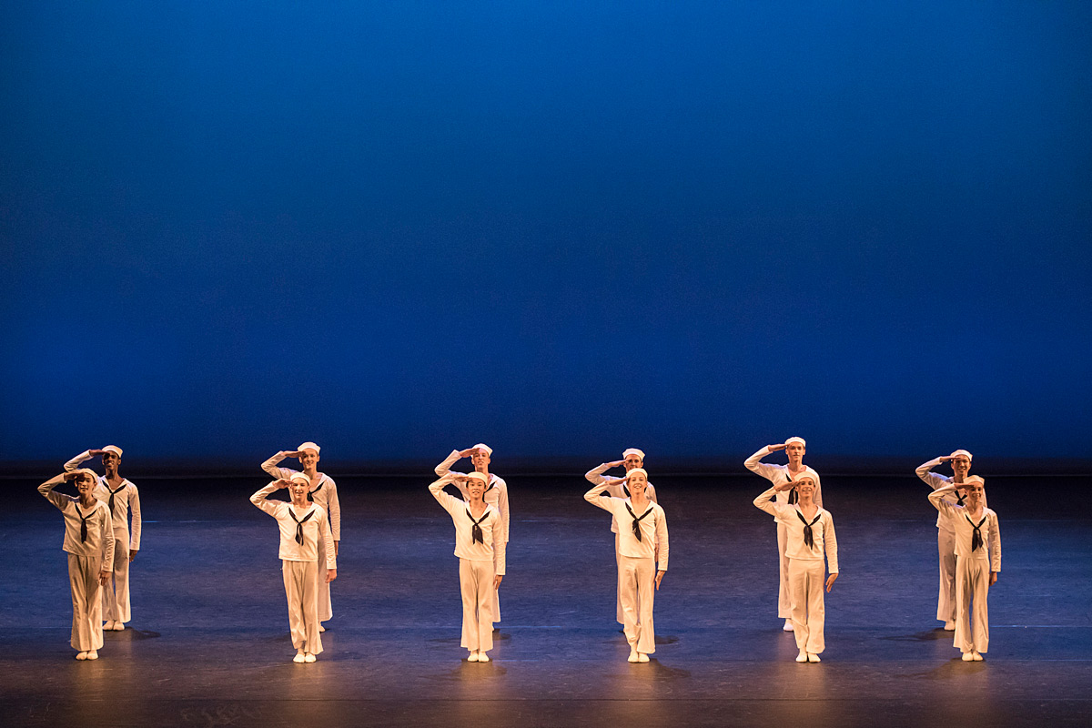 Royal Ballet School, White Lodge, in Here We Come.© Johan Persson / RBS. (Click image for larger version)