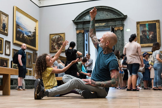 Fevered Sleep's Men & Girls Dance at Tate Britain.© Tate Britain. (Click image for larger version)