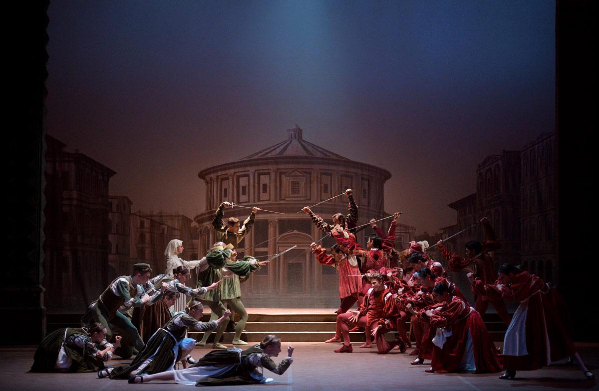 English National Ballet in Romeo & Juliet.© Laurent Liotardo. (Click image for larger version)
