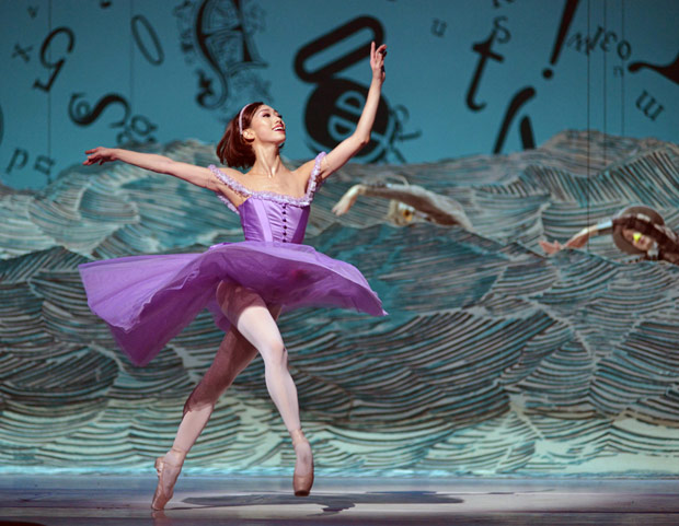 Akane Takada in Alice's Adventures in Wonderland.© Dave Morgan, courtesy the Royal Opera House. (Click image for larger version)