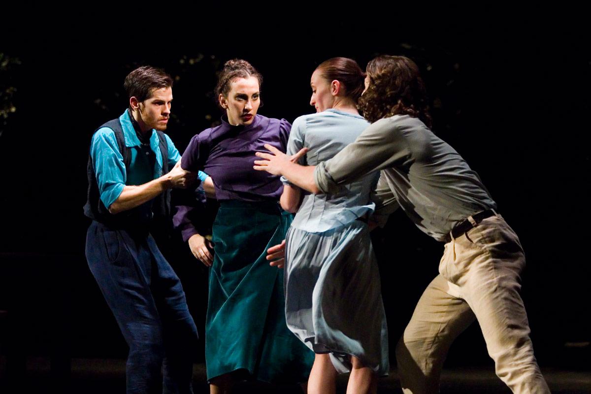 Daniel Flores Pardo, Marta Barossi, Luana Pignato and Beniamin Citkowski in Eros Thanatos.© Krzysztof Mystkowski. (Click image for larger version)