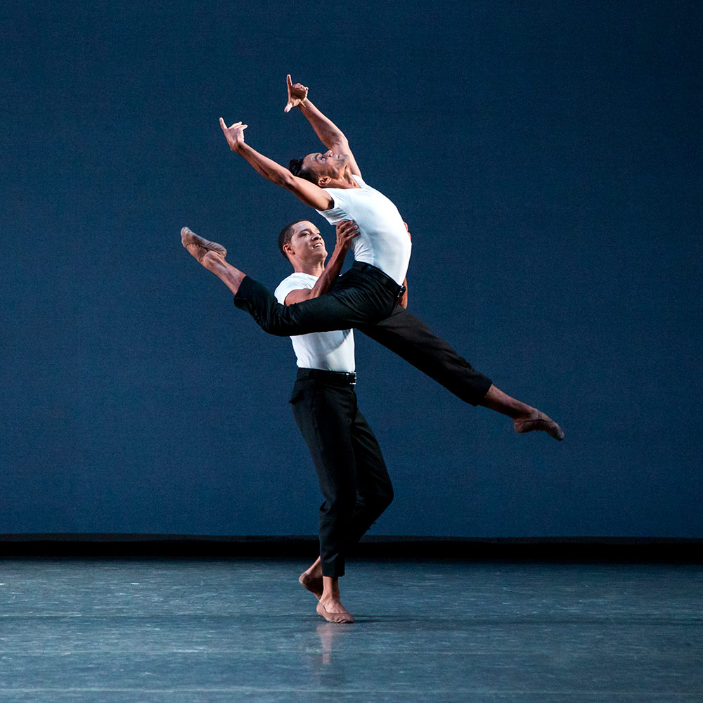 Preston Chamblee and Taylor Stanley in Lauren Lovette's Not Our Fate.© Paul Kolnik. (Click image for larger version)