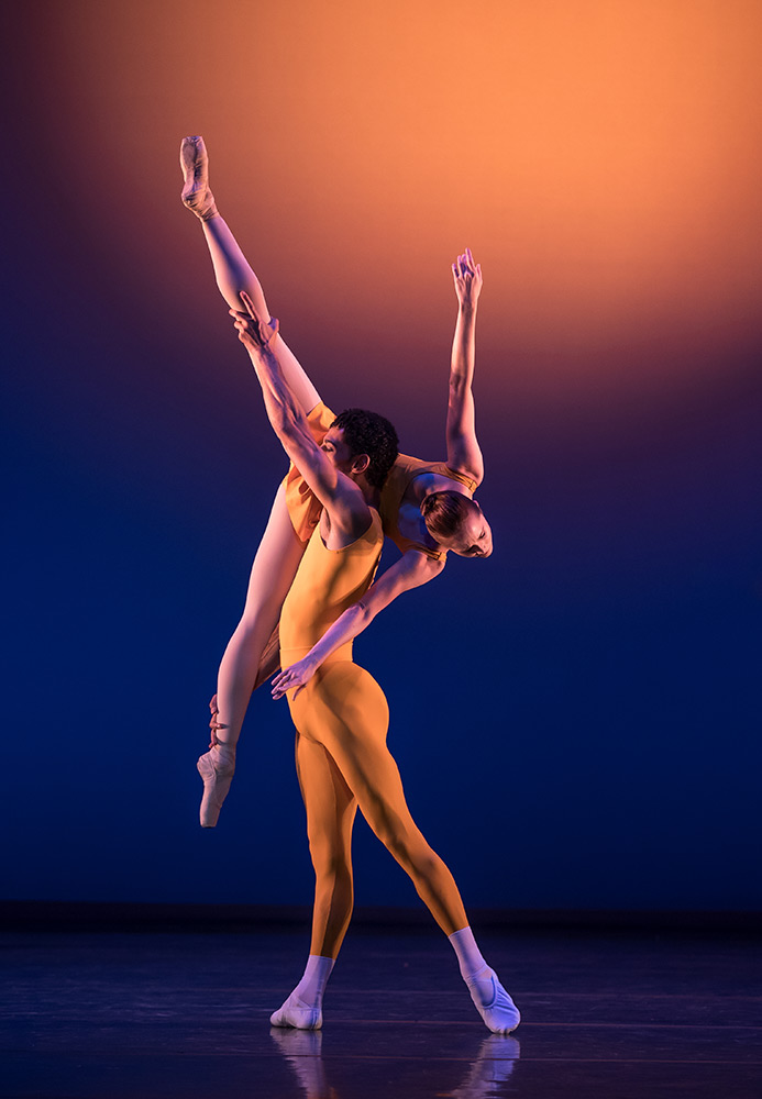 Tyrone Singleton and Jenna Roberts in <I>Concerto</I>.<br />© Andy Ross. (Click image for larger version)