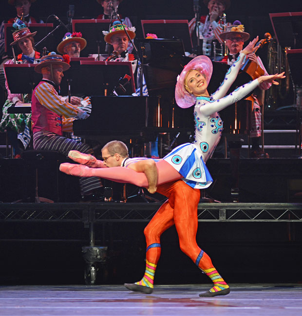 Marge Hendrick and Constant Vigier (of Scottish Ballet) in <I>Elite Syncopations</I>.<br />© Dave Morgan, courtesy the Royal Opera House. (Click image for larger version)