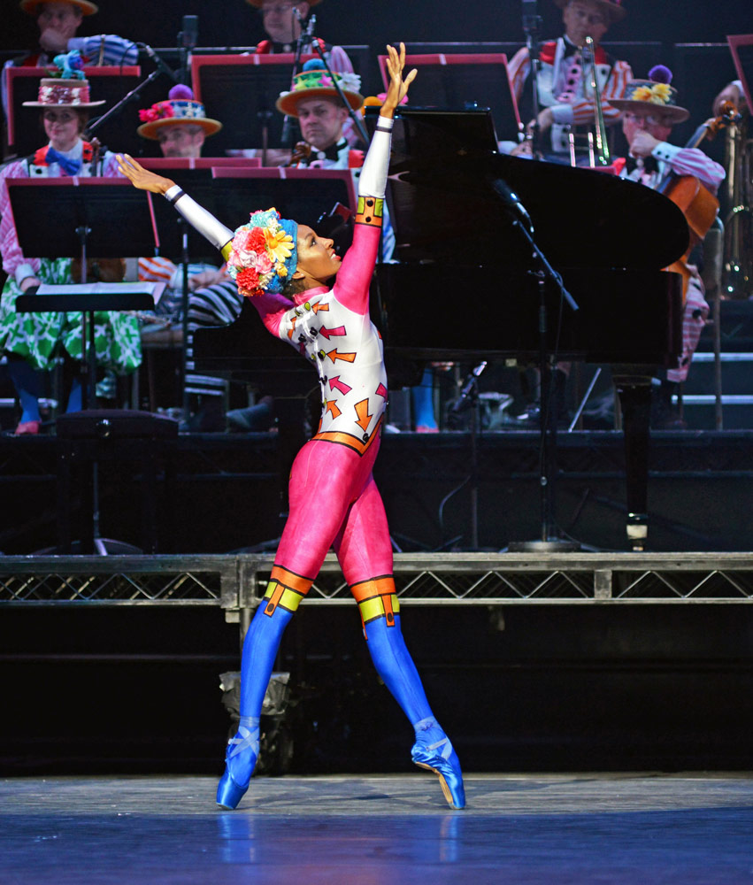 English National Ballet's Precious Adams in <I>Elite Syncopations</I>.<br />© Dave Morgan, courtesy the Royal Opera House. (Click image for larger version)