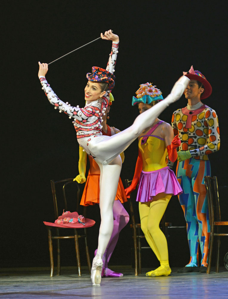 Yasmine Naghdi in Elite Syncopations.© Dave Morgan, courtesy the Royal Opera House. (Click image for larger version)