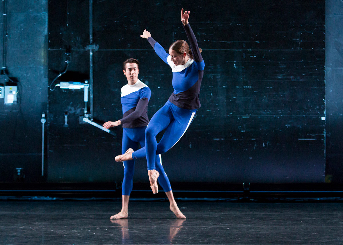 Ashly Isaacs and Daniel Applebaum in The Answer.© Erin Baiano. (Click image for larger version)