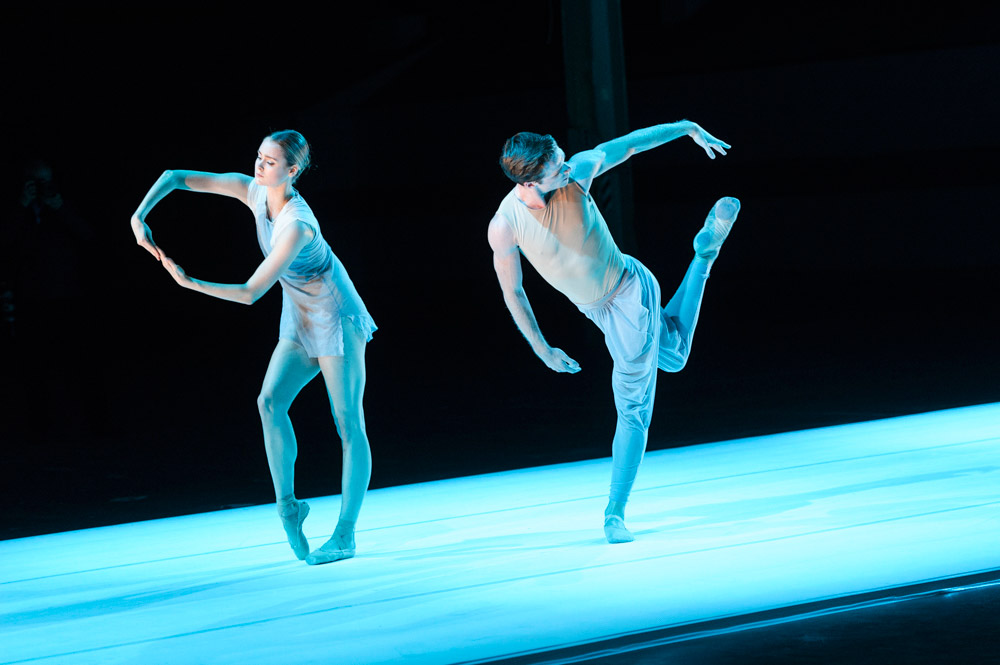 Hannah Fischer and Harrison James in The Dreamers Ever Leave You.© Foteini Christofilopoulou, courtesy the Royal Opera House. (Click image for larger version)