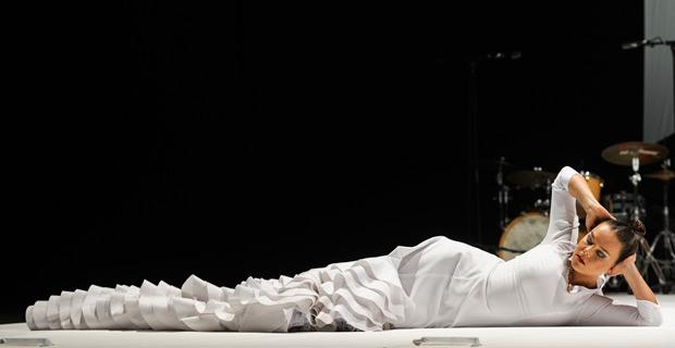 Rocio Molina in Fallen from Heaven (Caida del Cielo).© Foteini Christofilopoulou. (Click image for larger version)