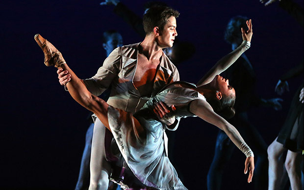 Misty Copeland and Gray Davis in <I>Thirteen Diversions</I>.<br />© Marty Sohl. (Click image for larger version)