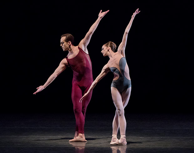 Maria Kowroski and Jared Angle in Christopher Wheeldon's <I>Liturgy</I>.<br />© Paul Kolnik. (Click image for larger version)