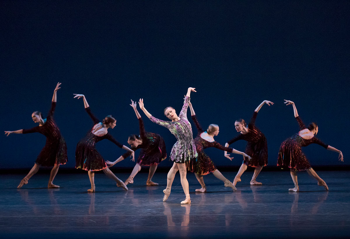 Sara Mearns and New York City Ballet in Alexei Ratmansky's Odessa.© Paul Kolnik. (Click image for larger version)