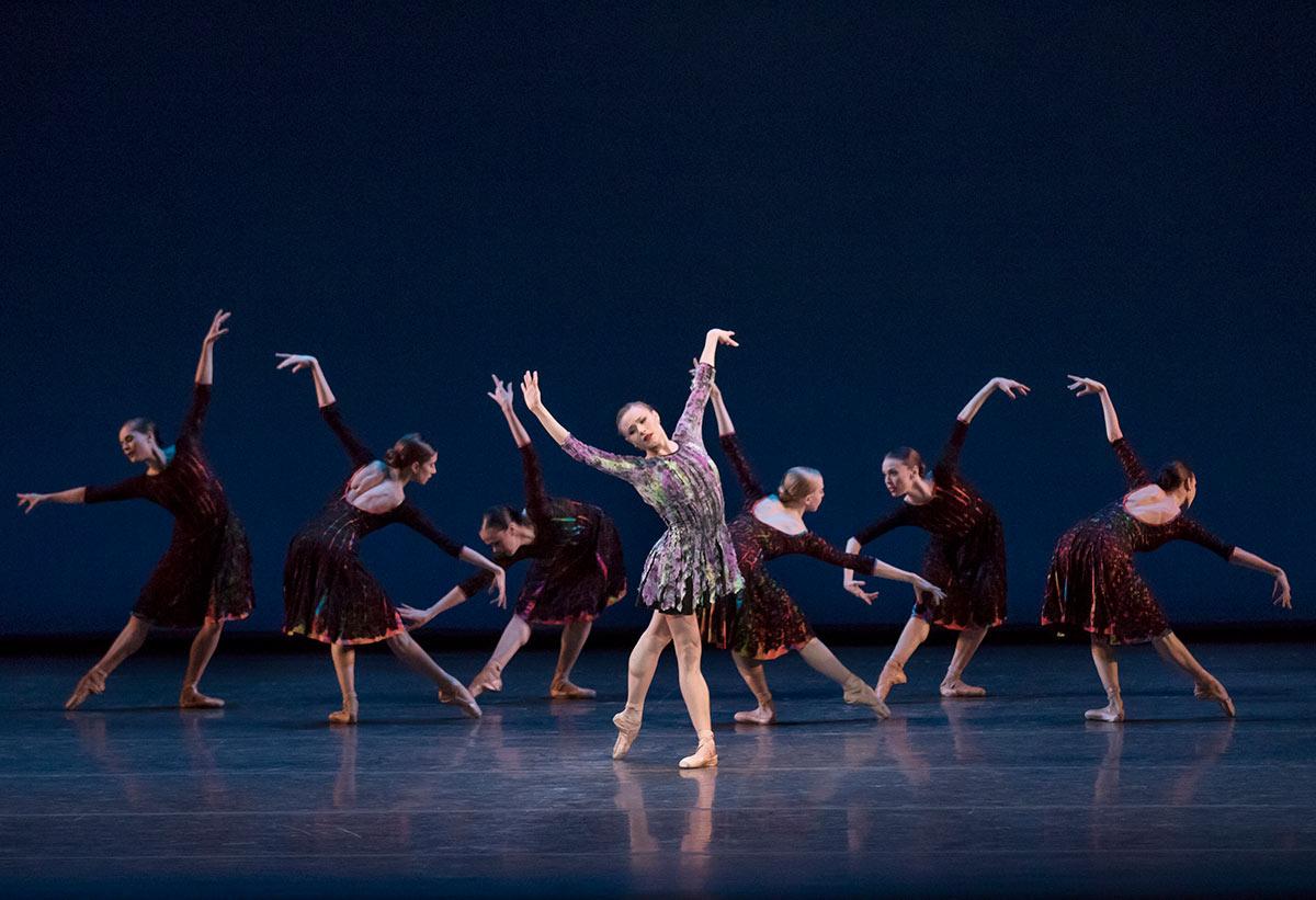 Sara Mearns and New York City Ballet in Alexei Ratmansky's Odessa.© Paul Kolnik. (Click image for larger version)