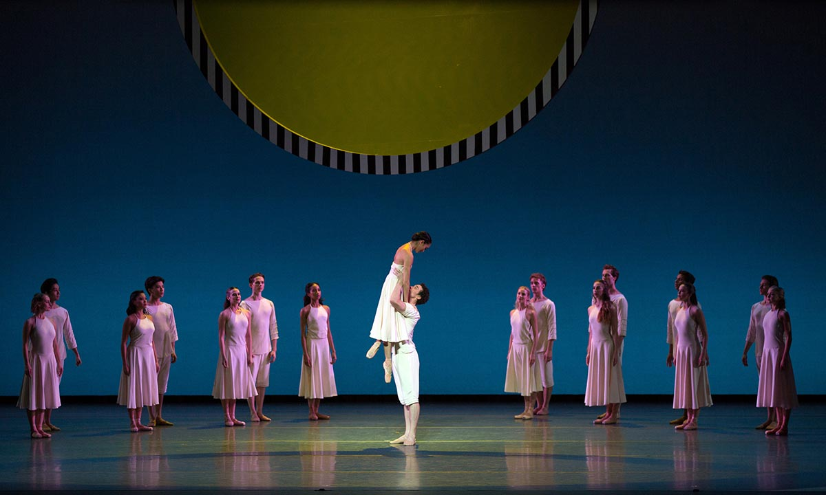 Stella Abrera and Cory Stearns in Daphnis and Chloe.© Rosalie O'Connor. (Click image for larger version)