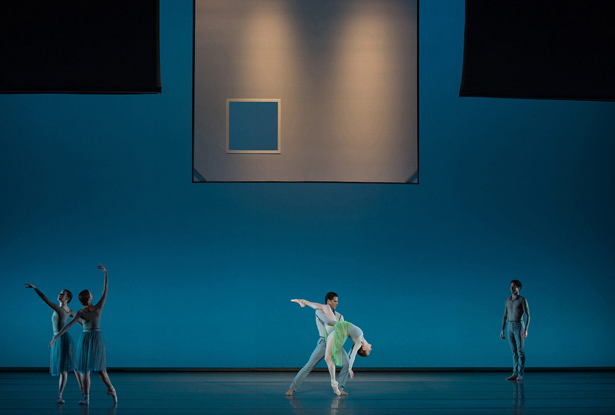ABT's Gillian Murphy & Marcelo Gomes in Jessica Lang's <I>Her Notes</I>.<br />© Rosalie O'Connor. (Click image for larger version)