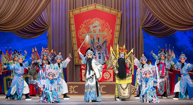 China National Peking Opera Company in <I>A River All Red</I>.<br />© Sinolink Productions. (Click image for larger version)