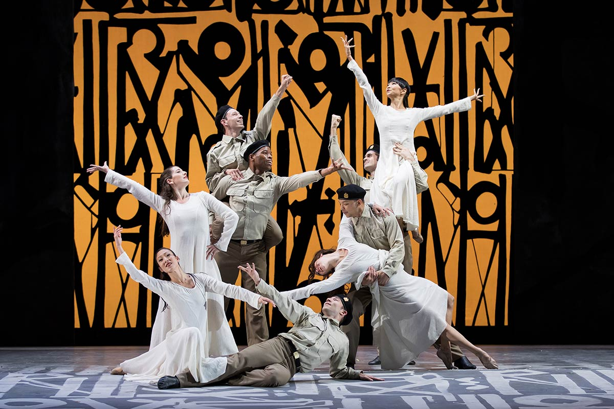 Jessica Lang Dance in the Washington National Opera's <I>Aida</I>.<br />© Scott Suchman. (Click image for larger version)