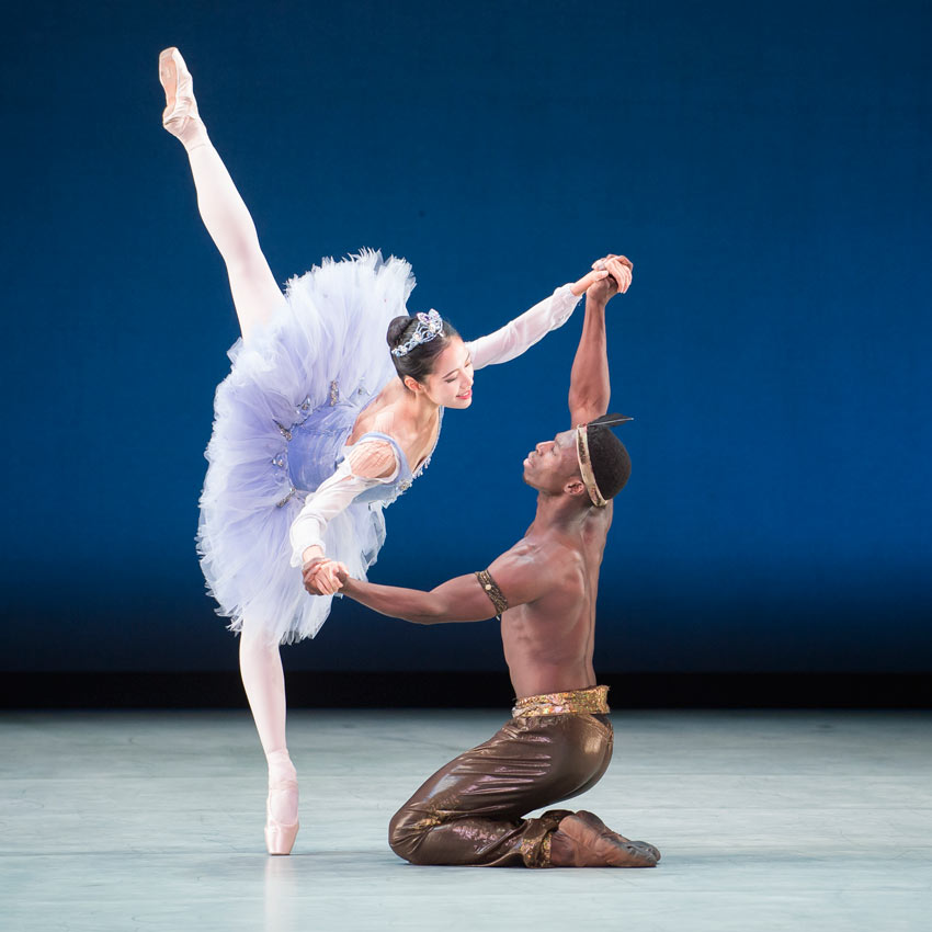 EunWon Lee and Brooklyn Mack in Le Corsaire.© Theo Kossenas Media 4 Artists. (Click image for larger version)