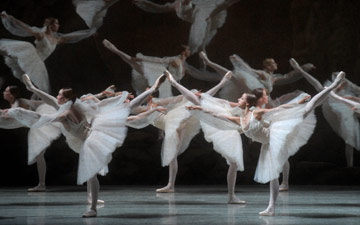 Mariinsky Ballet in La Bayadere - Kingdom of the Shades.© Valentin Baranovsky. (Click image for larger version)