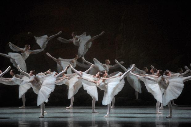 Mariinsky Ballet in <I>La Bayadere</I> - <I>Kingdom of the Shades</I>.<br />© Valentin Baranovsky. (Click image for larger version)