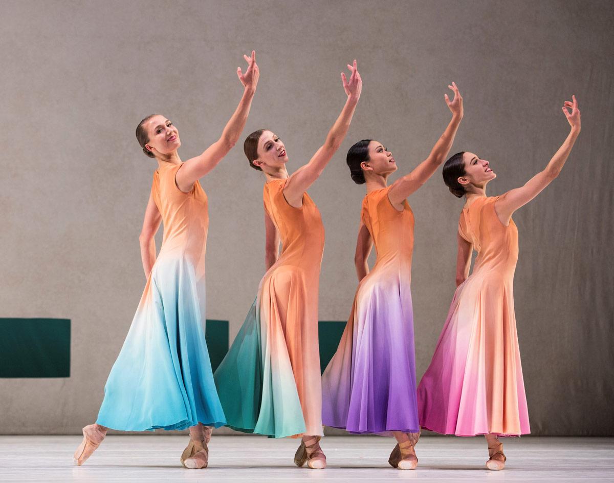 Cecilia Iliesiu, Elle Macy, Angelica Generosa and Leta Biasucci in Jessica Lang's Her Door to the Sky