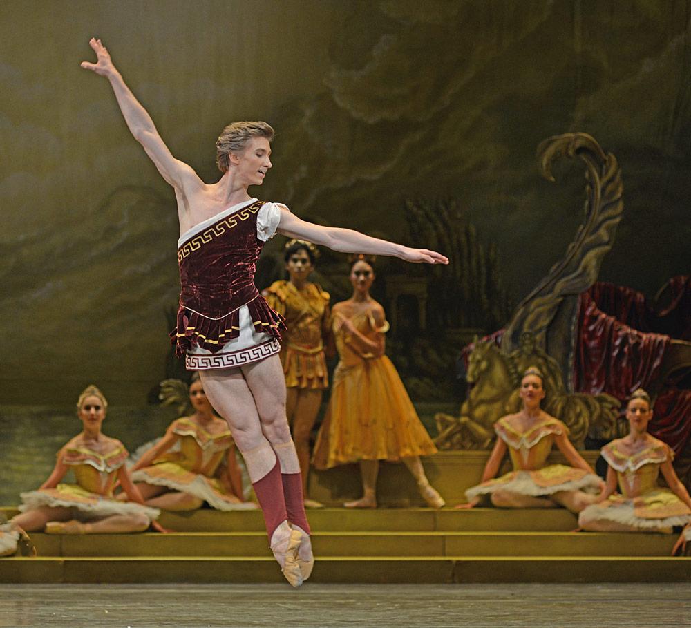 Vadim Muntagirov in Sylvia.© Dave Morgan, courtesy the Royal Opera House. (Click image for larger version)