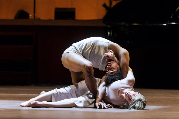 Liam Francis and Hannah Rudd in Ben Duke's <I>Goat</I>.<br />© Foteini Christofilopoulou. (Click image for larger version)