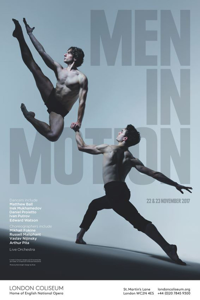 Men in Motion flyer.<br />© Nick Knight. (Click image for larger version)