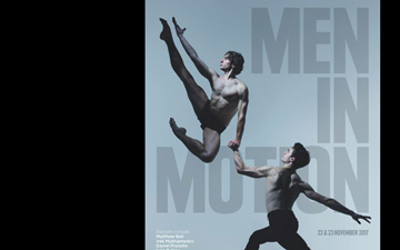Men in Motion flyer.© Nick Knight. (Click image for larger version)