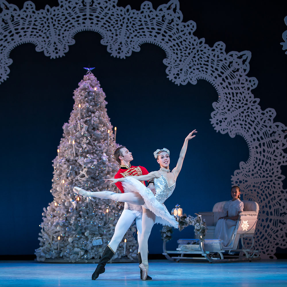 Christopher Harrison and Constance Devernay in The Nutcracker.© Andy Ross. (Click image for larger version)