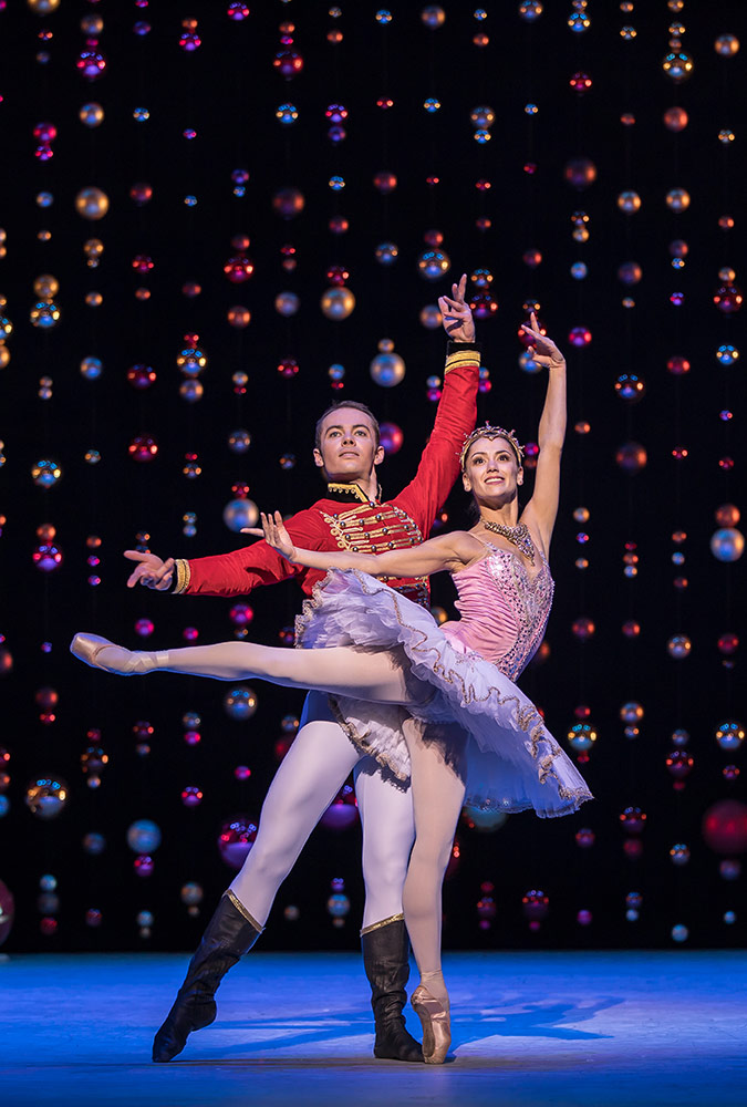 Christopher Harrison and Sophie Martin in The Nutcracker.© Andy Ross. (Click image for larger version)