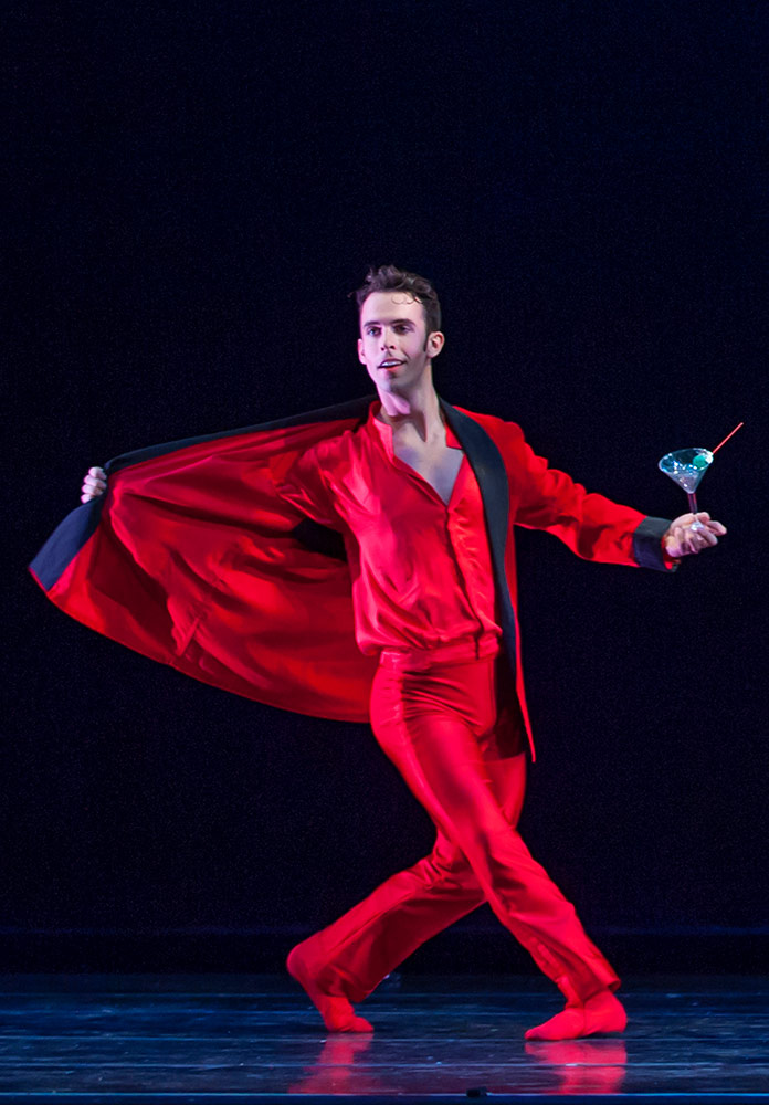 Ben Needham-Wood in Val Caniparoli's Jingle Bells Mambo, from The Christmas Ballet.© David Allen. (Click image for larger version)