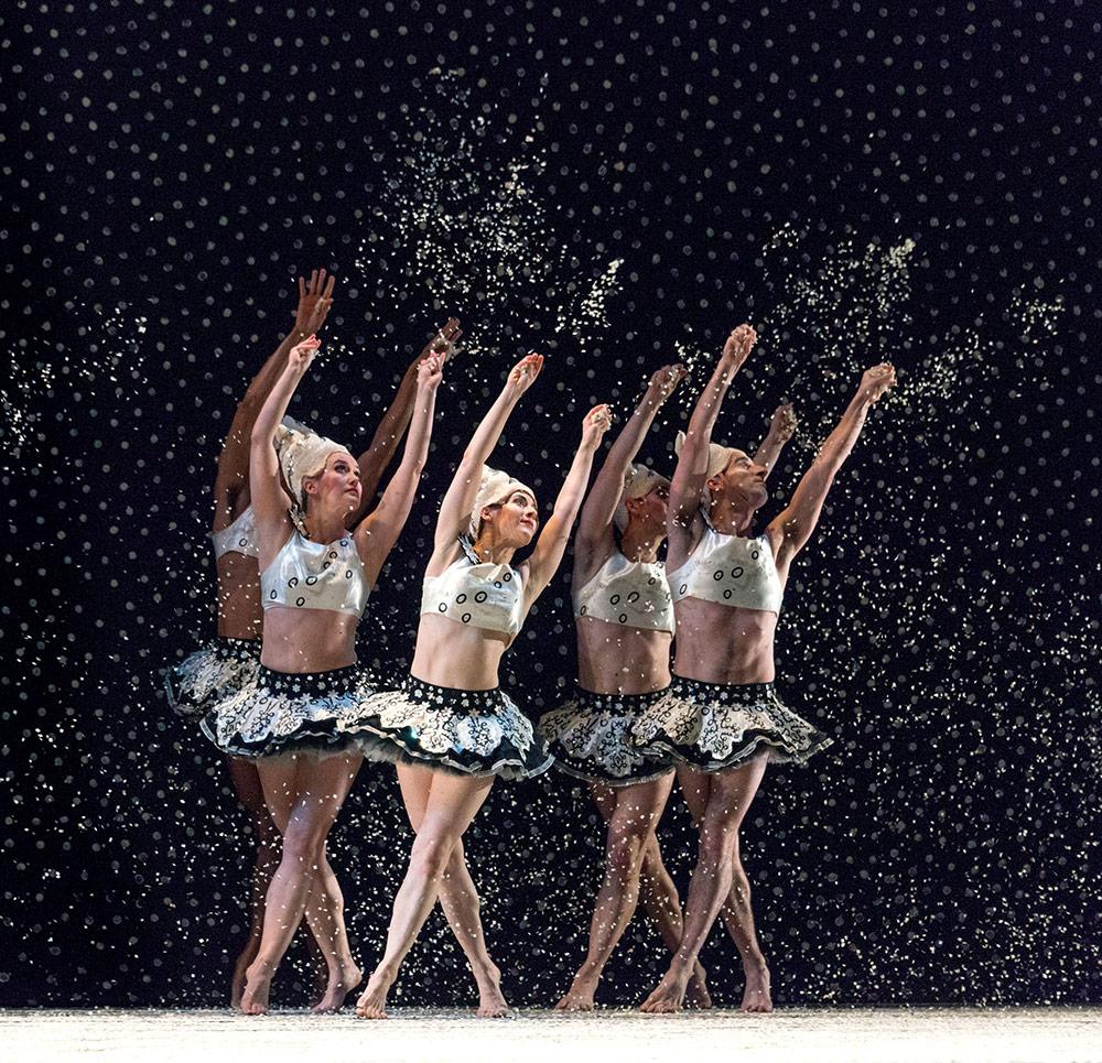 Mark Morris Dance Group in <I>The Hard Nut</I>.<br />© Frank Wing. (Click image for larger version)