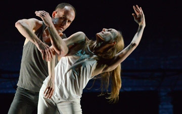 Wendy Whelan, Brian Brooks and Brooklyn Rider in Some of a Thousand Words.© Nir Arieli. (Click image for larger version)