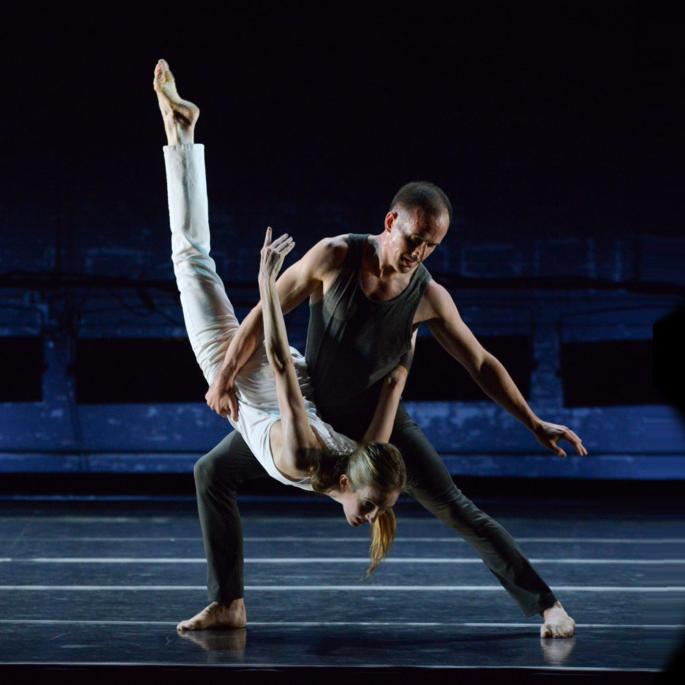 Wendy Whelan and Brian Brooks in <I>Some of a Thousand Words</I>.<br />© Nir Arieli. (Click image for larger version)