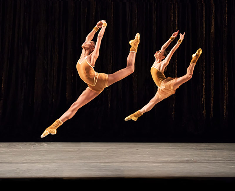 Jacqueline Green and Danica Paulos in Twyla Tharp's The Golden Section.© Paul Kolnik. (Click image for larger version)