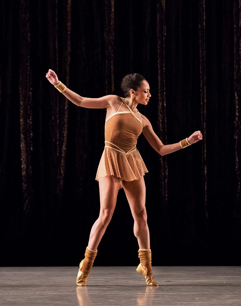 Linda Celeste Sims in Twyla Tharp's The Golden Section.© Paul Kolnik. (Click image for larger version)