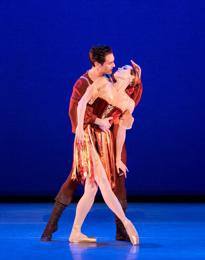 Natalia Magnicaballi and Michael Cook in Tzigane, choreography by George Balanchine © The George Balanchine Trust by special permission of Suzanne Farrell copyright holder.Image © Paul Kolnik. (Click image for larger version)