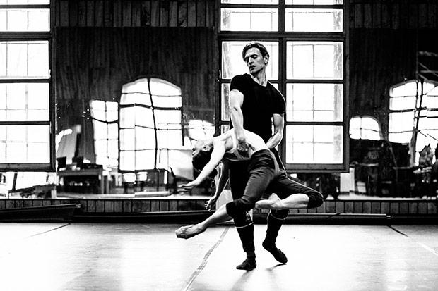 Sergei Polunin and Natalia Osipova in rehearsals for <I>Satori</I>.<br />© Srđan Srđenović. (Click image for larger version)