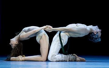 Ekaterina Petina and Matej Urban in The Taming of the Shrew.© Alice Blangero. (Click image for larger version)