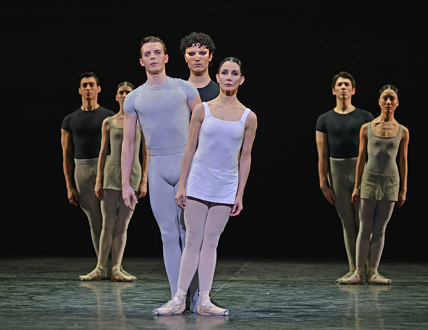 Tamara Rojo, Joseph Caley and Fernando Carratala Coloma in <I>Song of the Earth</I>.<br />© Dave Morgan. (Click image for larger version)