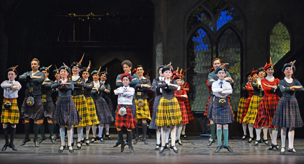 English National Ballet in La Sylphide.© Dave Morgan. (Click image for larger version)