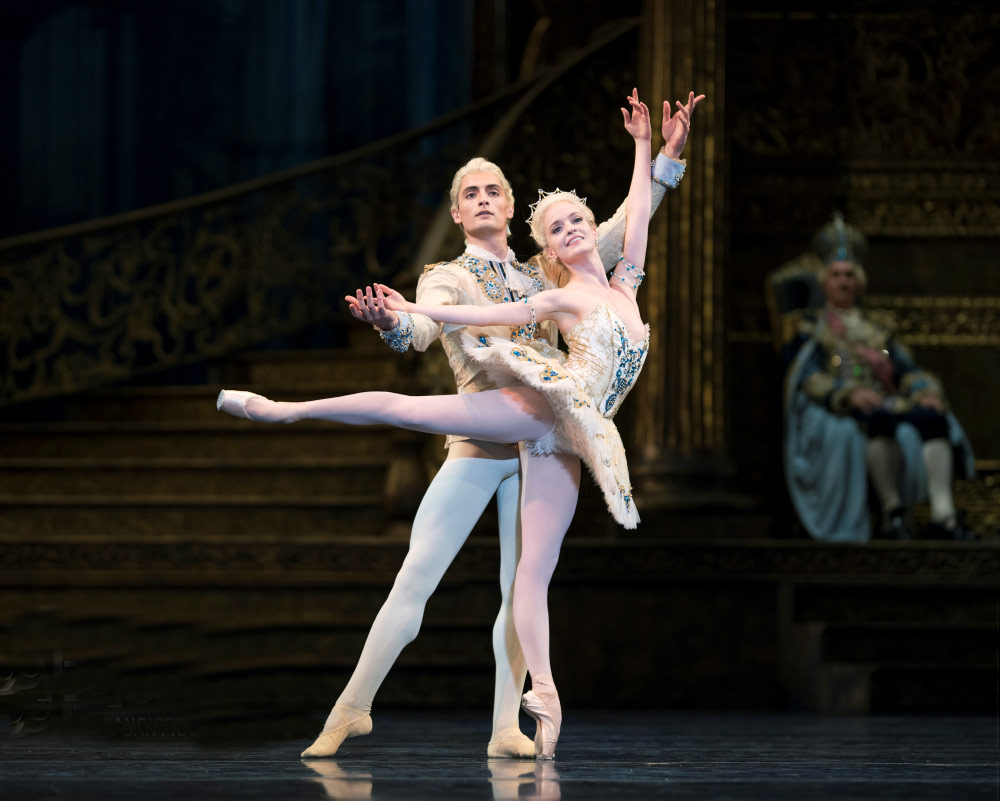 Carlo Di Lanno, here with Sasha De Sola, in <I>The Sleeping Beauty</I> Tomasson's .<br />© Erik Tomasson. (Click image for larger version)
