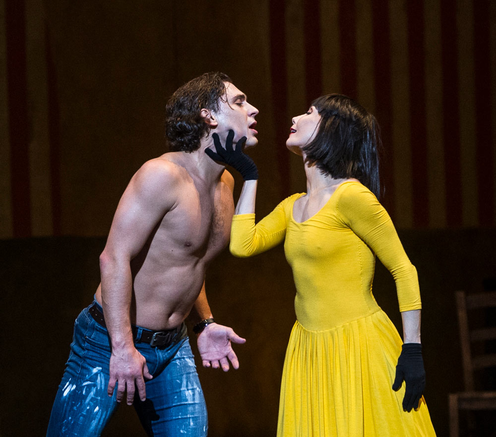 Tamara Rojo and Ivan Vasiliev in <I>Le Jeune Homme et la Mort</I>.<br />© Foteini Christofilopoulou. (Click image for larger version)