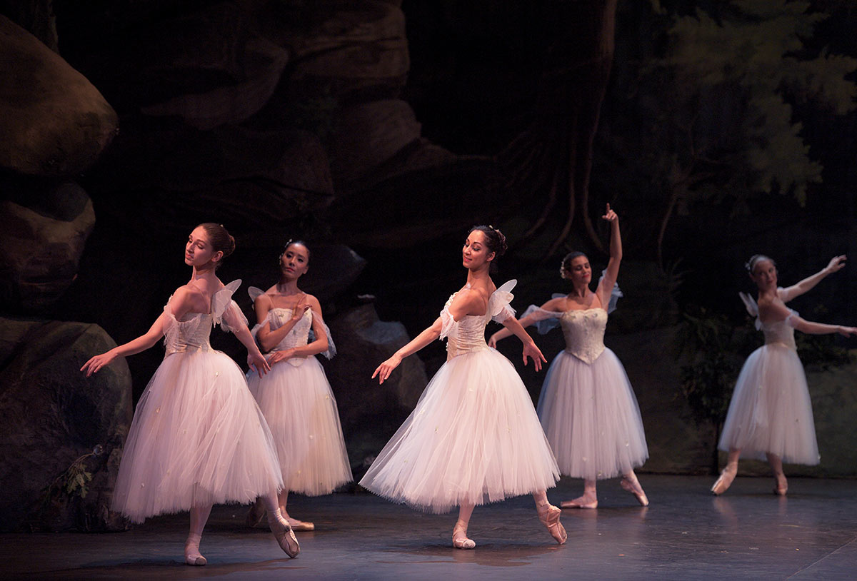 English National Ballet in <I>La Sylphide</I>.<br />© Laurent Liotardo. (Click image for larger version)