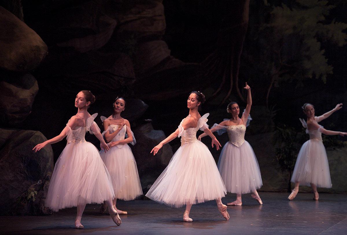 English National Ballet in <I>La Sylphide</I>.<br />© Laurent Liotardo. (Click image for larger version)