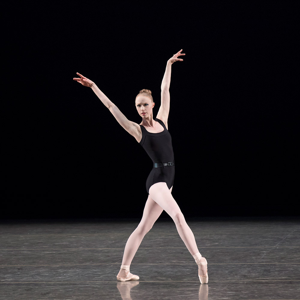 Teresa Reichlen in George Balanchine's The Four Temperaments.© Paul Kolnik. (Click image for larger version)