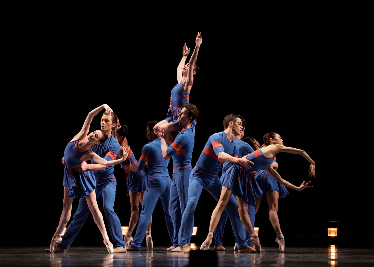 San Francisco Ballet in Millepied's The Chairman Dances—Quartet For Two.© Erik Tomasson. (Click image for larger version)